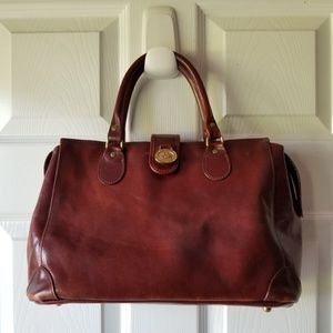 Vintage BRAHMIN Leather Shoulder Shopper Purse
